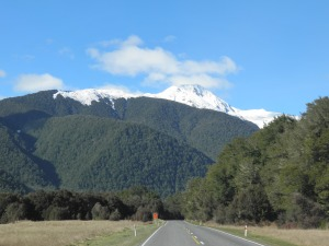 Driving towards Lewis Pass