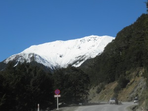 Nearing the summit of Lewis Pass
