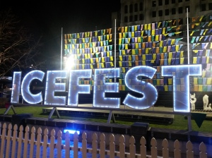 IceFest Hub at Night