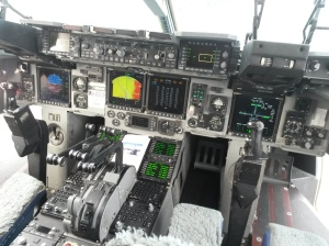 Cockpit of the US Air Force plane