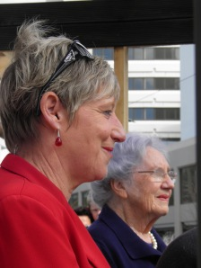 Christchurch Mayor Leanne Dalziel, and Lady Hillary