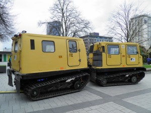 Hagglund in Cathedral Square