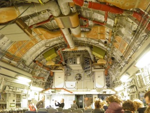 The roof of the US Air Force plane