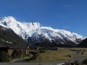 Mt Sefton from YHA Hostel