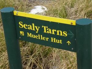 Mueller hut track signage
