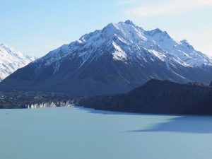 Mt Johnson with the Tasman glacier in front