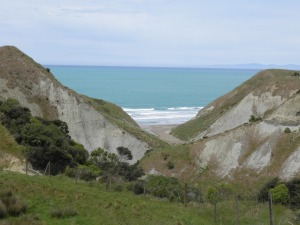The beach visible from the Clifftop Lookout track