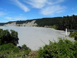 Rakaia river exiting the gorge