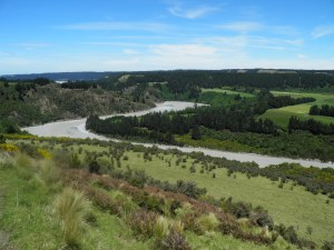Rakaia river viewed from farmland