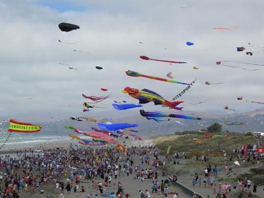 Kite Day, New Brighton beach