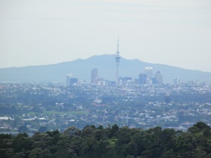 Auckland with Rangitoto behind from the Waitakere Range