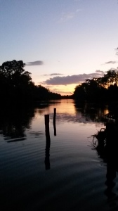 Sunset over the Murray River
