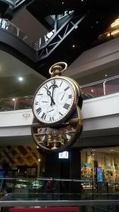 Clock inside Central Mall
