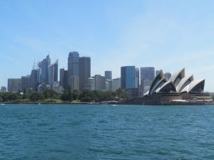Sydney skyline from the Manly ferry