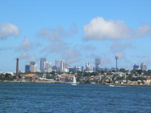 Sailing down the Paramatta River