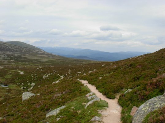 The start of the Lochnagar track