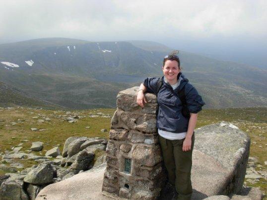 At the summit of Lochnagar