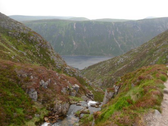 Loch Muick viewed from the top of Glas-Allt Falls