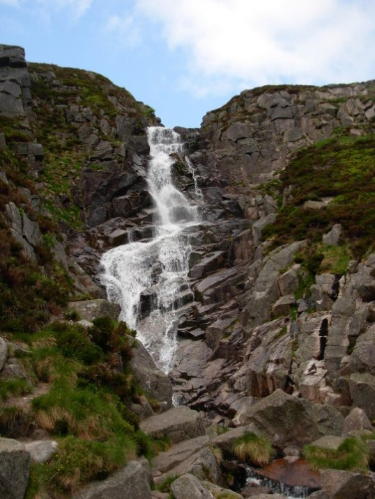 Upper section of Glas-Allt Falls