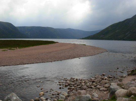 River Muick leaving Loch Muick