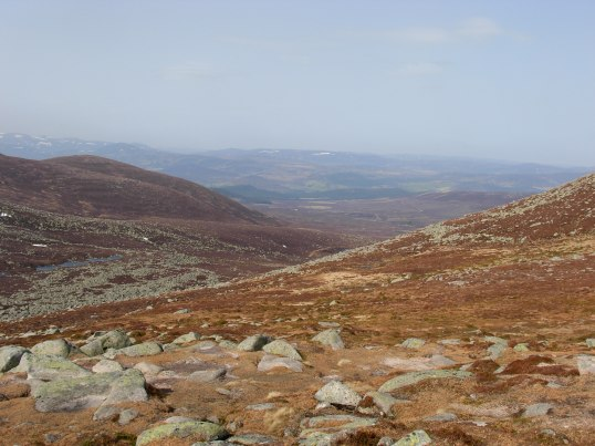 Lochnagar burn disappears into the distance