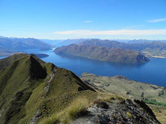 Lake Wanaka from the ridge line spur track