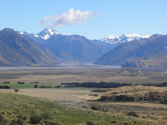 Rangitata River Valley with Mt Sunday to the right