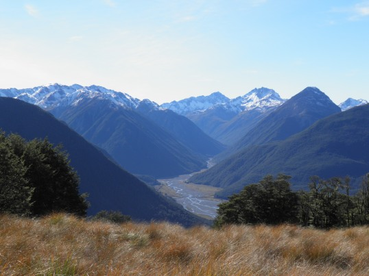 Looking up the Bealey river valley