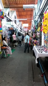 A quiet section of Chatuchak Market