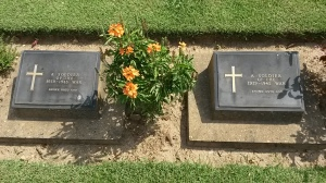 Graves of unidentified soldiers