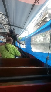 Riding the Khlong boat