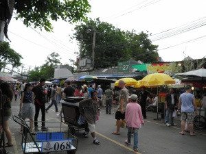 Outdoor stretch of Chatuchak Market