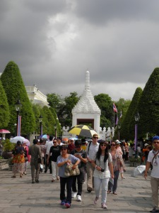 A mere portion of the crowds at the Grand Palace