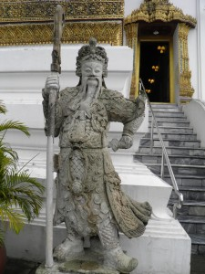 Statue outside Dusit Maha Prasat Hall