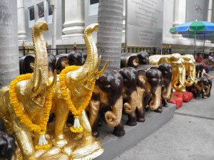 Elephants at the Erawan Shrine