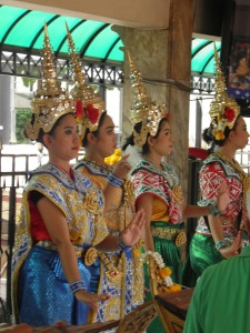 Dancers at the Erawan Shrine