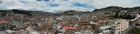 Quito as viewed from the clocktower