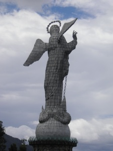 The Virgin stands tall over Quito