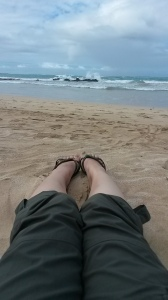 Relaxing on the main stretch of Isabela beach