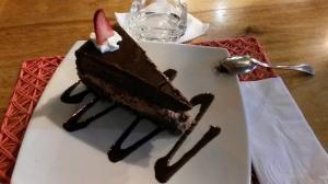 Chocolate cake from Il Giardino