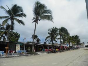 Puerto Villamil's main street