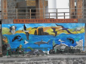 Mural at the pier of Puerto Baquerizo Moreno