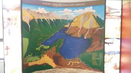 Lake Rotoiti hikes illustrated at the DOC office