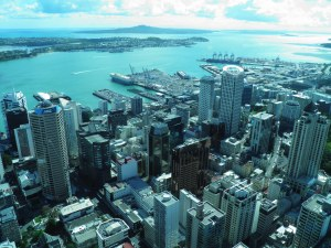 Downtown Auckland & harbour