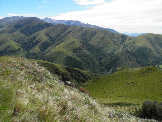 Mt Hutt beginning to appear in the distance