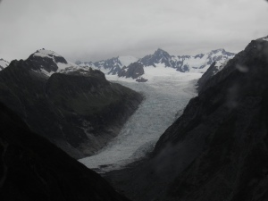 Flying up to Fox Glacier