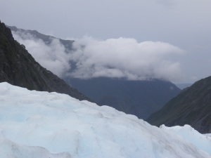View from the glacier
