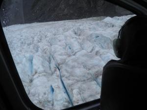 Leaving the glacier behind