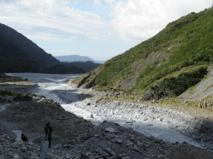 River flowing away from Franz Josef glacier