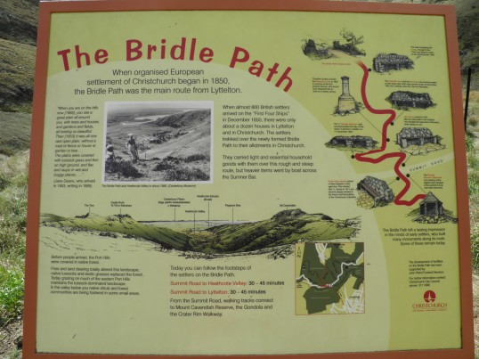 Information board on the bridle path